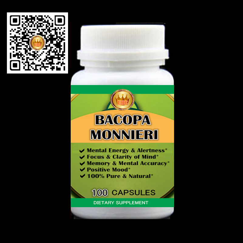 2017 Newest Bacopa Monnieri PE. Natural Brain Function Support - Memory, Focus & Clarity Formula - Free shipping and duty