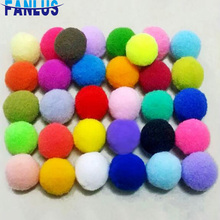 30pcs/50pcs/100pcs 25mm Christmas Home Party Decorations Pompom DIY Craft Supplies Kids Toy Handicrafts Sticking On Clothes