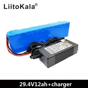 Image 2 - LiitoKala 7S4P 24 V 12ah แบตเตอรี่ลิเธียมแบตเตอรี่ไฟฟ้าจักรยาน ebike สกูตเตอร์รถเข็น cropper กับ BMS