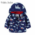 Autumn and winter children's clothing male child baby print plus velvet thermal outdoor jacket thick wadded jacket