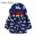 Outono e inverno das crianças roupas de bebê impressão criança do sexo masculino além de veludo térmica ao ar livre jaqueta wadded jaqueta grossa