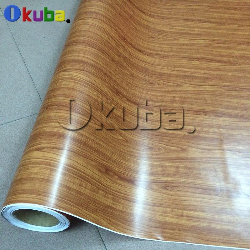 Feuille de Film vinyle de Grain de bois auto-adhésif 1.52x20 m/roll