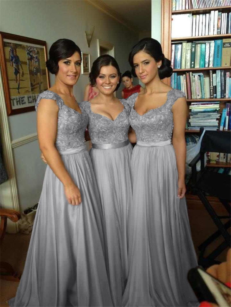 Purple and grey bridesmaid dresses image collections braidsmaid online get cheap gray chiffon bridesmaid dress aliexpress new arrivals 2016 robe de soiree chiffon gray ombrellifo Gallery