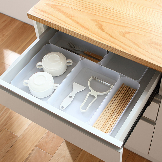 Diy Multi Compartment Natural Classifying Cosmetic Drawer Storage