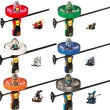 Marvel Ninjagoed Super Heroes Spinning Flying Ninja Beyblade Zane Cole Lloyd Action Figures Building Toys Legoings DBP376