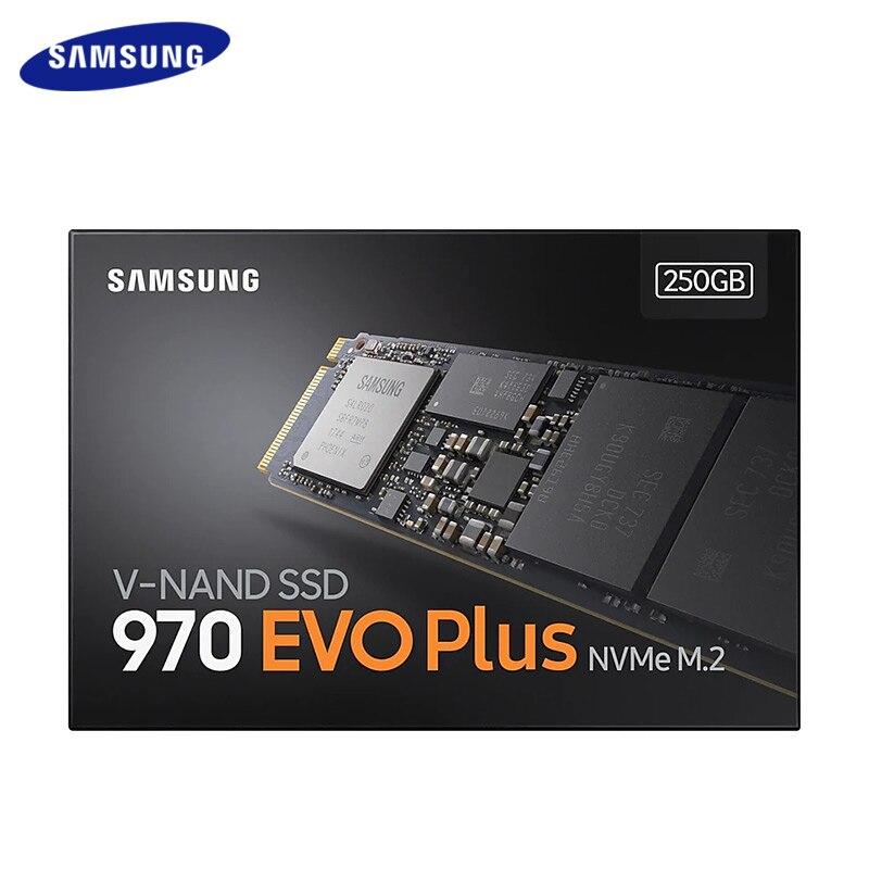 New Samsung SSD 250GB 500GB de Disco Rígido de Estado Sólido Interno 1TB 970 EVO Mais NVMe M.2 2280 HDD PCIe Gen 3.0x4 NVMe 1.3 Para PC