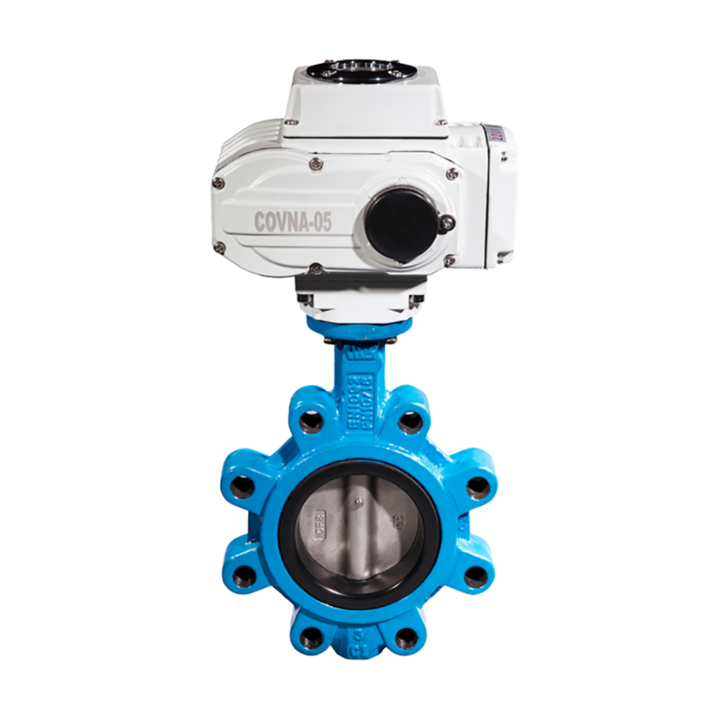 5 inch ANSI Lug Type Motorized Butterfly Valve 150LB Cast Iron with SS304 Disc DN125 Electric