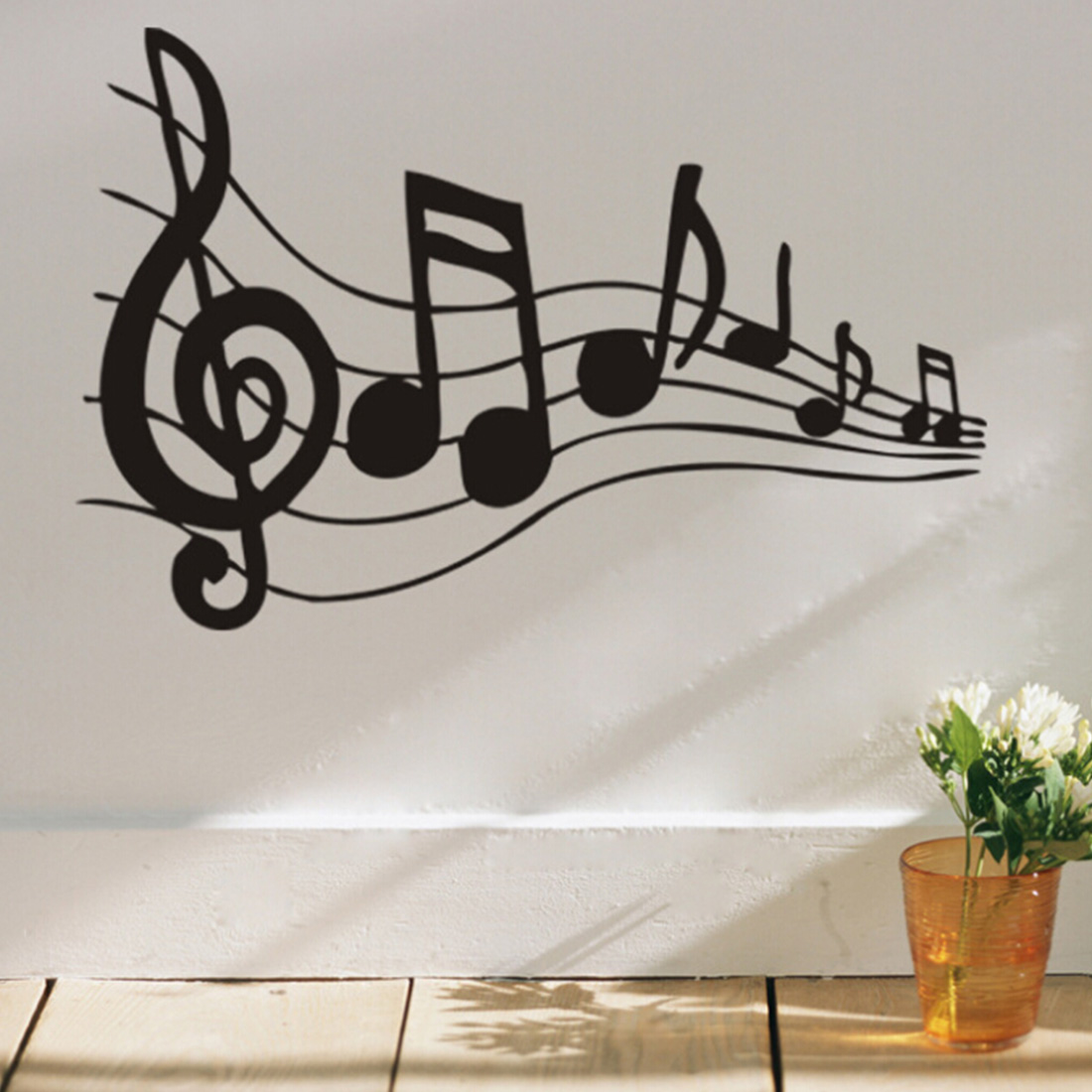 Graffiti wall vinyl - Hotsale Wall Home Decor Vinyl Decal Removable Sticker Paper Music Note Pattern Graffiti China