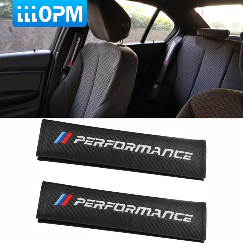2pcs Car Sport Seat Belt Safety Shoulder Pads Harness Cushions Cover Kid Adult For BMW M Performance E46 E39 X5 X6 E36 E90 E91