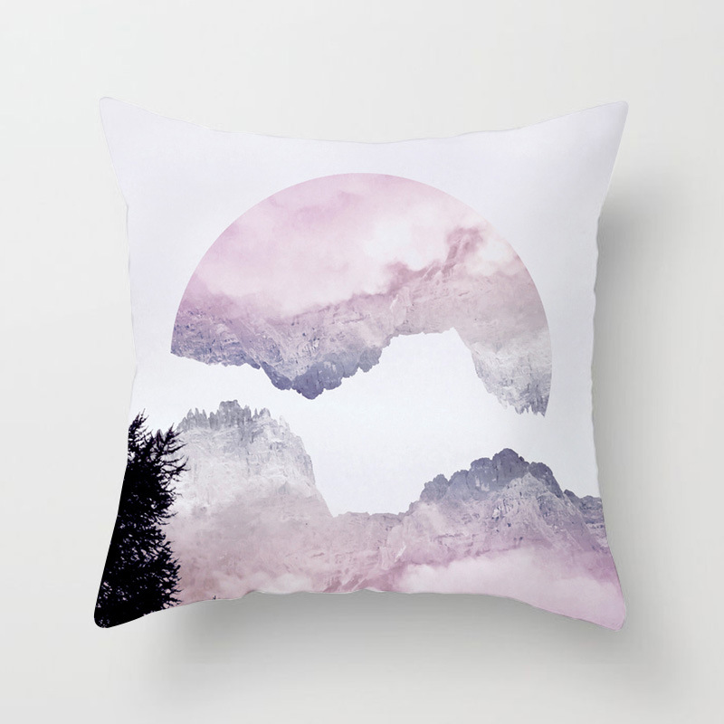 Image 3 - Nordic Simple Pink Marble Geometric Cushion Cover Peach Velvet Decorative Throw Pillowcase Home Decor Living Room Decoration-in Cushion Cover from Home & Garden