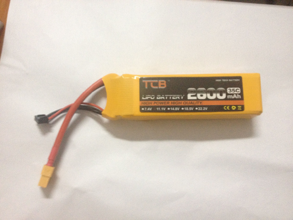 TCB lipo battery 14.8v 2600mAh 35C 4s RC airplane cell factory-outlet goods of consistent quality free shipping