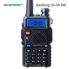BaoFeng UV-5R 8 Watt Walkie Talkie 10 km Dual Band UV 5R Ham Zwei-wege-radio VOX Taschenlampe Handheld Long Range Tragbare Jagd Radio