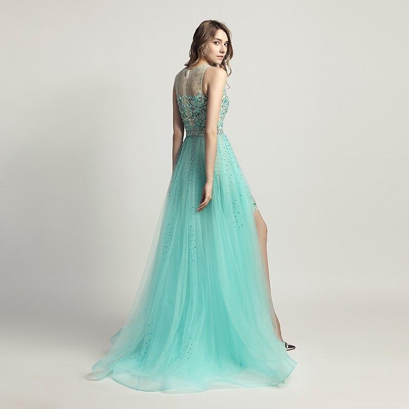Skönhet Lace Appliques Knä Längd Cocktail Klänningar med Tulle - Särskilda tillfällen klänningar - Foto 2
