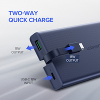 Ugreen 10000mAh Power Bank 18W Quick Charge 3.0 Powerbank External Battery Charger Pack For Xiaomi Mobile Phone Type C Poverbank 1