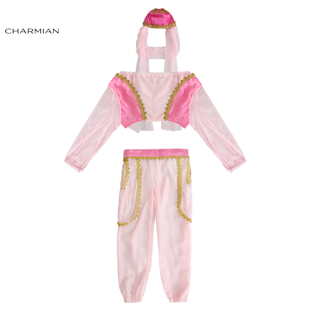 Charmian Genie Halloween Costume for Girls Kid Princess Cosplay Party Fancy Dress Carnival Costume Soft Material Clothing
