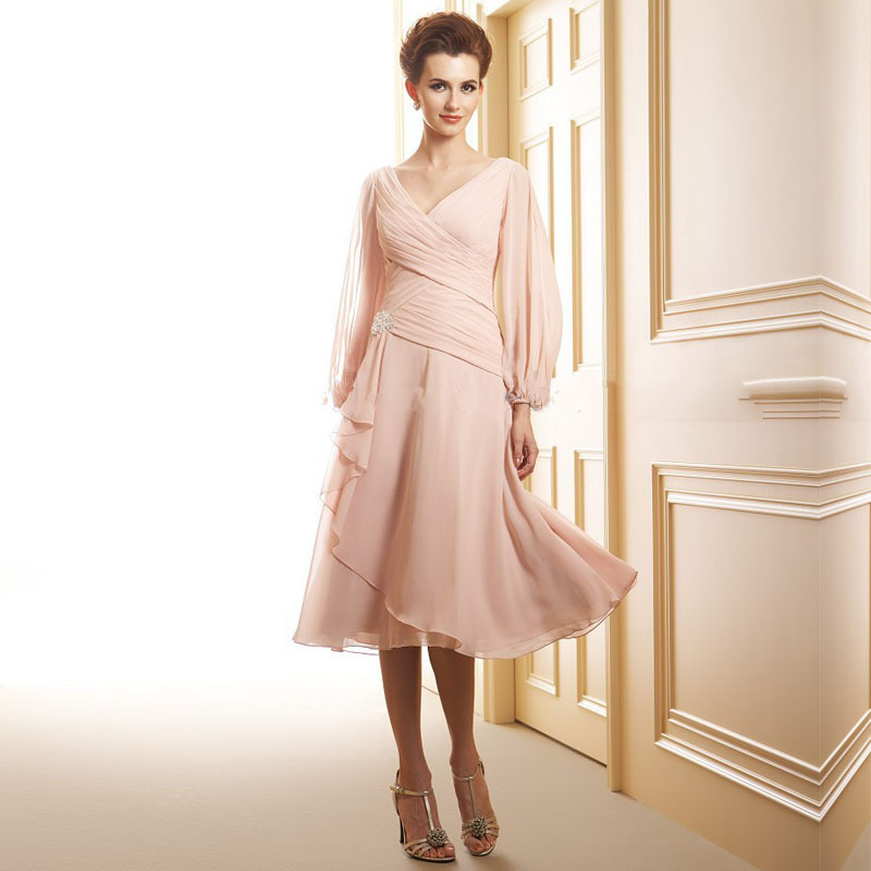 Glamorous Long Sleeves Mother Of The Bride Dresses Fast