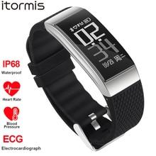 ITORMIS Fitness Akıllı Bilezik SmartBand Spor Bilek Bandı İzle EKG Kalp Hızı Kan Pessure IOS Android için Monitör Su Geçirmez
