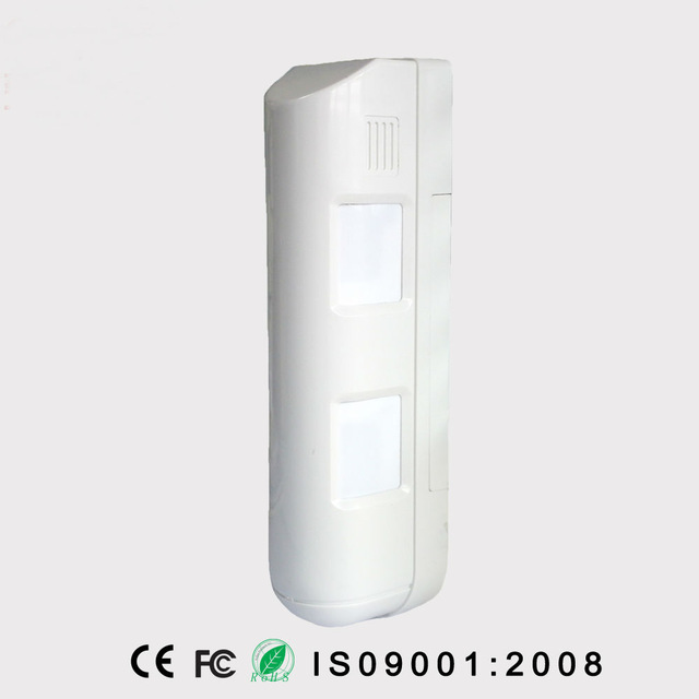 Indoor/Outdoor Dual Curtain PIR Detector For Alarm System, Outdoor Wired  Dual Curtain Motion