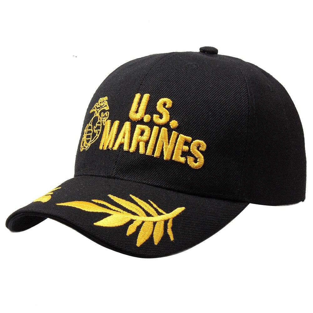 2016 Taktische Marines Kappe Mens Baseball-cap Usa Armee Schwarz Wasser Hut Snapback Caps Für Einstellbare Navy Seal Hohe Qualität