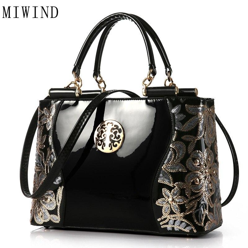 MIWIND Fashion Hand Bag Famous Brand Bag High Quality Buckle Handbag Women Fashion PU Leather Shoulder