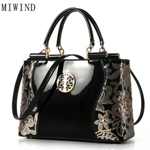 MIWIND Fashion Hand Bag Famous Brand Bag High Quality Buckle Handbag Women Fashion PU Leather Shoulder
