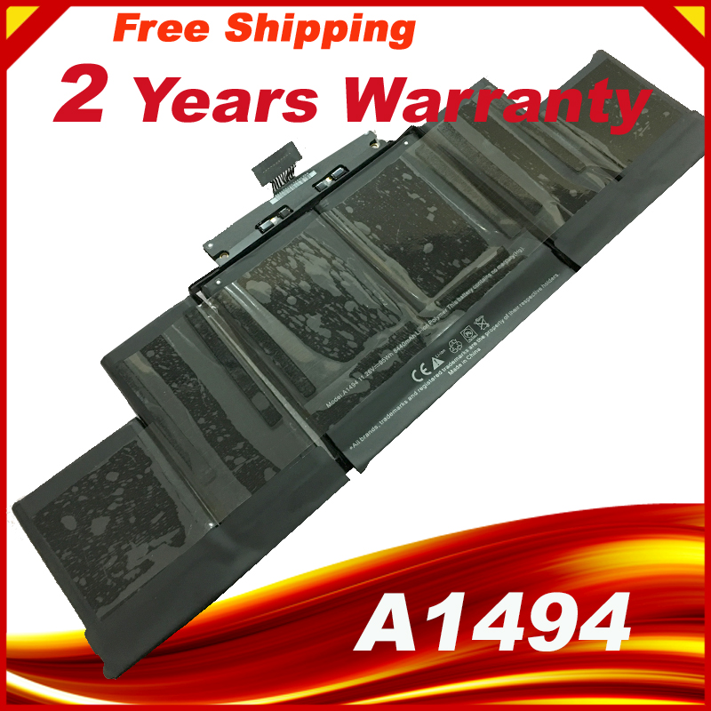 95Wh 11.26V A1494 Battery For Apple Macbook Pro 15 Inch Retina A1398 Late 2013 Mid 2014 MGXC2 MGXA2 ME293 ME294 аксессуар аккумулятор rocknparts zip 95wh 11 26v для apple macbook pro retina 15 a1398 370003