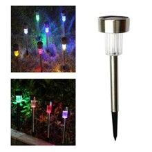 Dikale LED solar plug light outdoor garden stainless steel tube decorative landscape