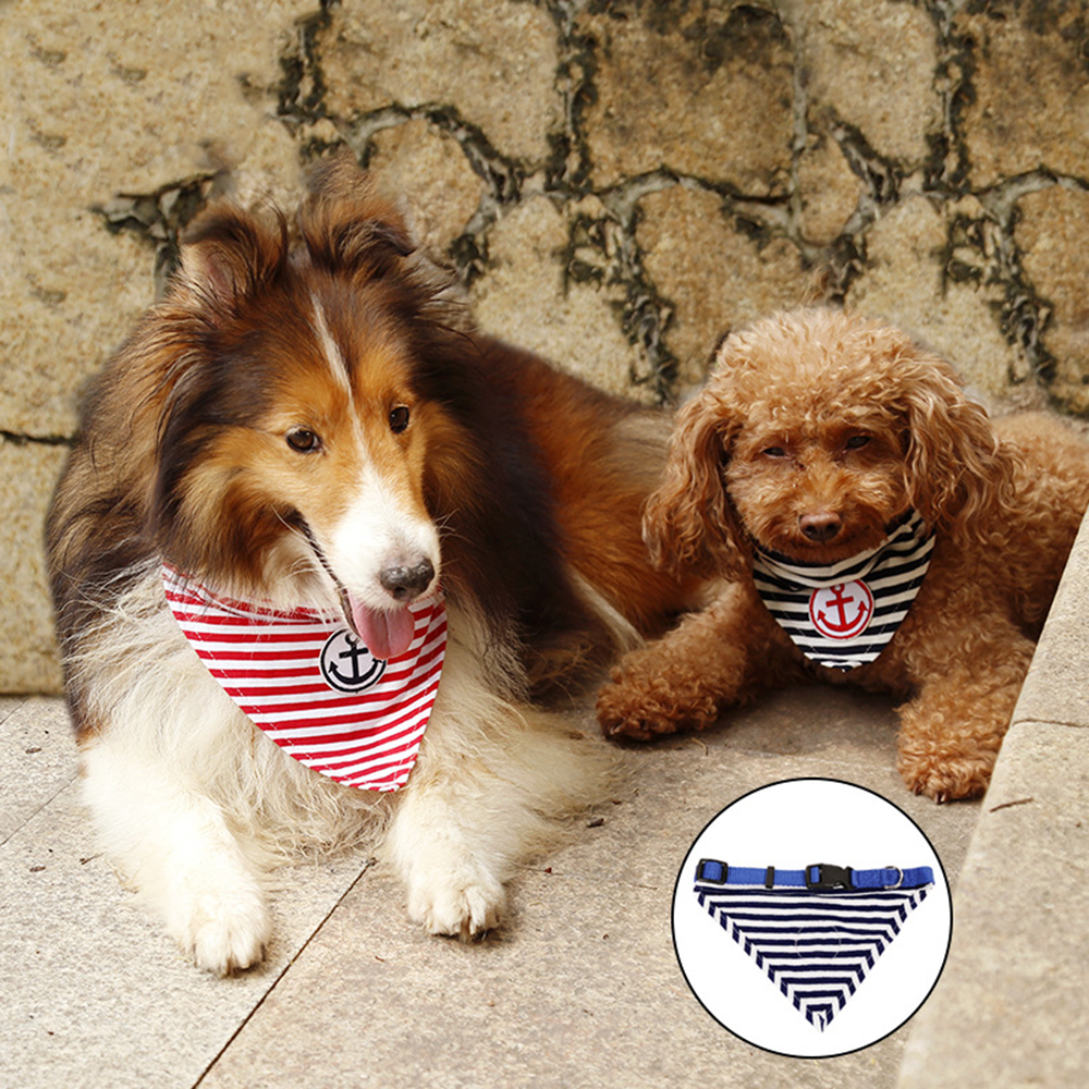 Doglemi Pet Dog Cat Scarf Collar Pet Dog Cat Puppies Collars Scarf Adjustable Breathable Neckerchief S,M,L3 sizes 2 Colors