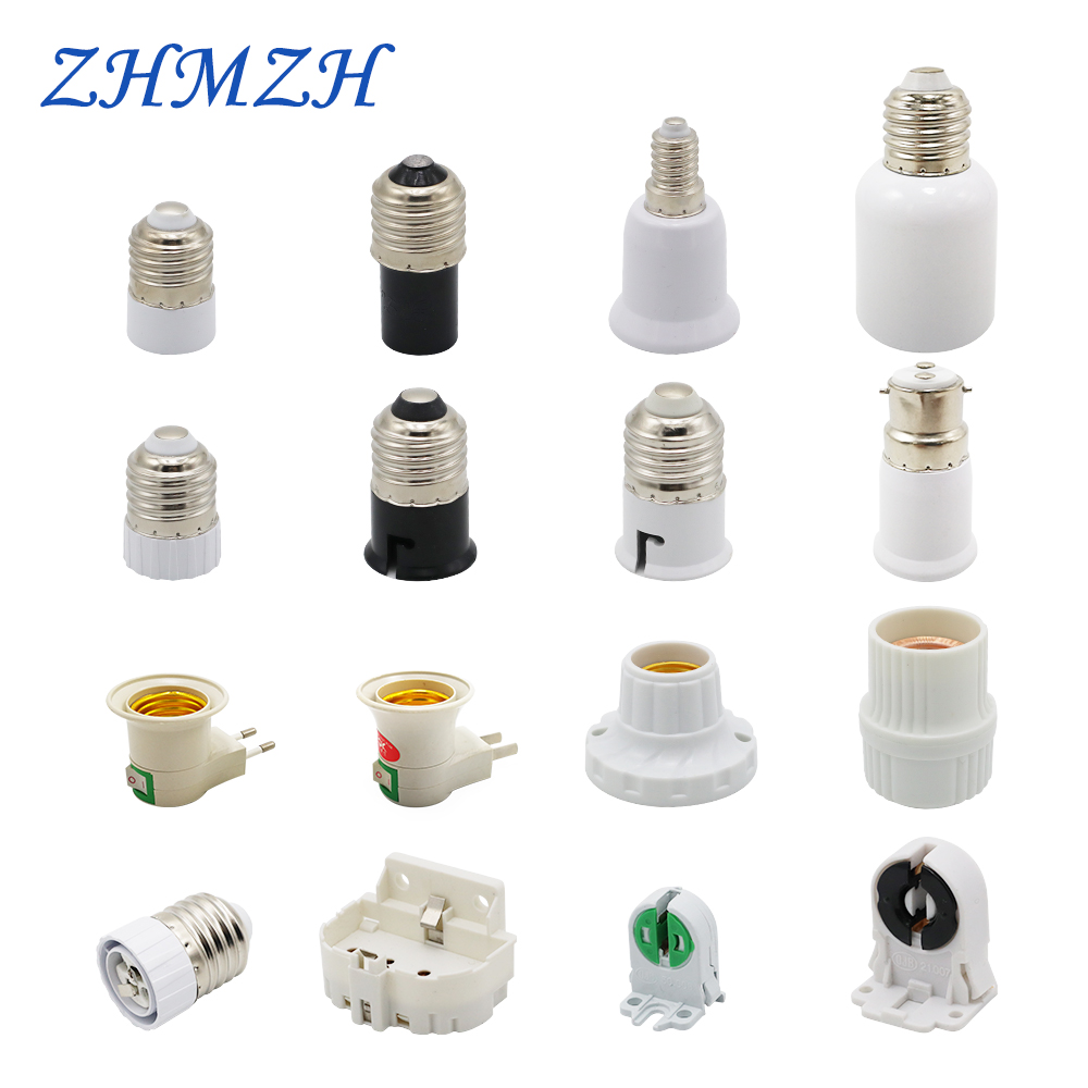 2pcs/lot GU5.3 MR11 MR16 G4 Lamp Holder Converter E27 T5 T8 2G11 Lamp Base E40 E14 B22 Light Socket Adapter US EU Plug For LED