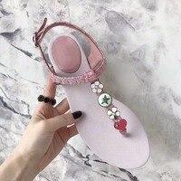 2018 High Quality Women Sandals Flower Decor Heart Pattern Women Shoes Luxury Shoe Wedding Party Street Super Star Sapato Femino