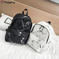 Модный рюкзак унисекс для женщин и мужчин, Холщовый Рюкзак для подростков, сумки для девочек, повседневный рюкзак Marbling, женский рюкзак, школ...