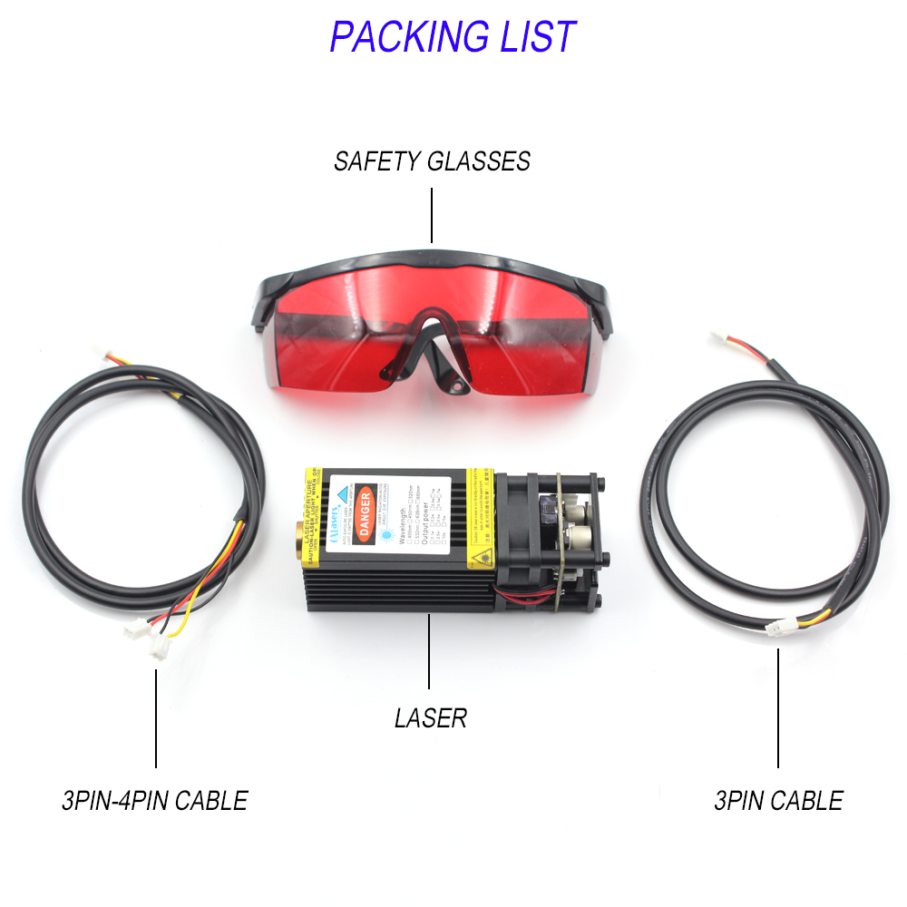 Image 5 - oxlasers powerful 450nm 15W 15000mW blue laser module DIY laser head for CNC laser engraving machine and laser cutter with PWMWoodworking Machinery Parts   -