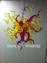 Free shipping amber small crystal blown glass chandelier lights (BGC20139)