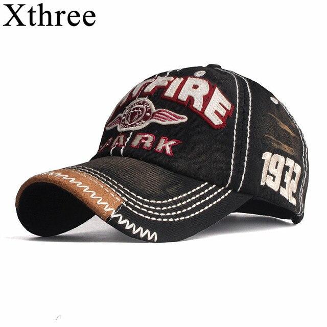 Xthree nuevo gorras de béisbol para los hombres de streetwear estilo mujeres  sombrero del snapback bordado casual tapa gorra sombrero de papá hip hop  tapa 2d30a343c5a