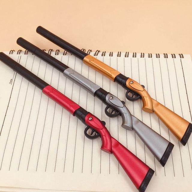 1Pcs Creative Pen 0 38mm Black Ink Canetas Office Student Gift Writing Pens Toy Gun Shape
