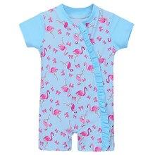 b54a17ff1b BAOHULU 2018 Summer Baby Swimwear UV50+ Pink Toddler Infant Girl Swimsuit  One Piece Cartoon Bathing Suits