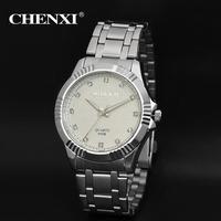 Chenxi mens מזדמן אופנה שעון גברים שעון יד פלדה בנד כסף יהלומי יוקרה מותגים מתנת איש קוורץ שעונים לגברים על מכירה