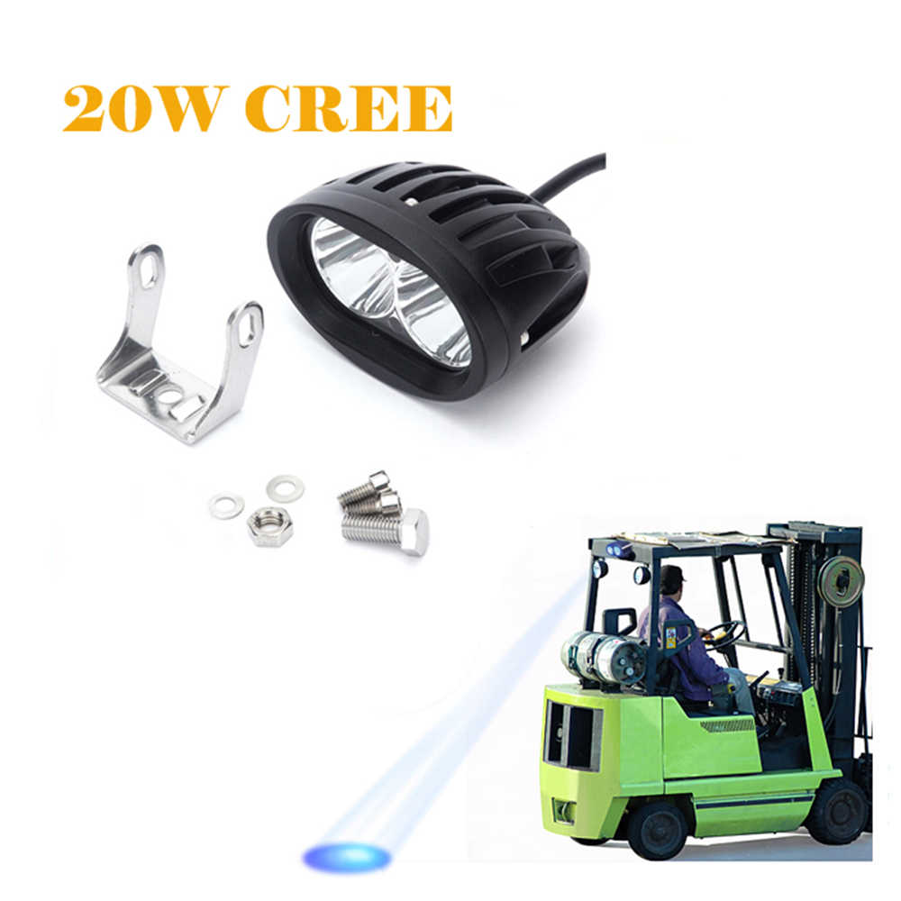 ECAHAYAKU 1Piece 20W LED Spot Forklift Truck Red Yellow Blue Warning Lamp Safety Work Light 10-60V DC Forklift Led Warning Light