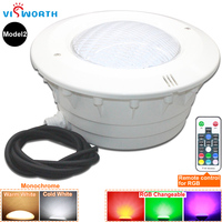 VisWorth 24W 36W Led Underwater Lights RGB Par56 LED Swimming Pool Light IP68 Bulb Lamp Remote Linear Niche For Pond Fountain