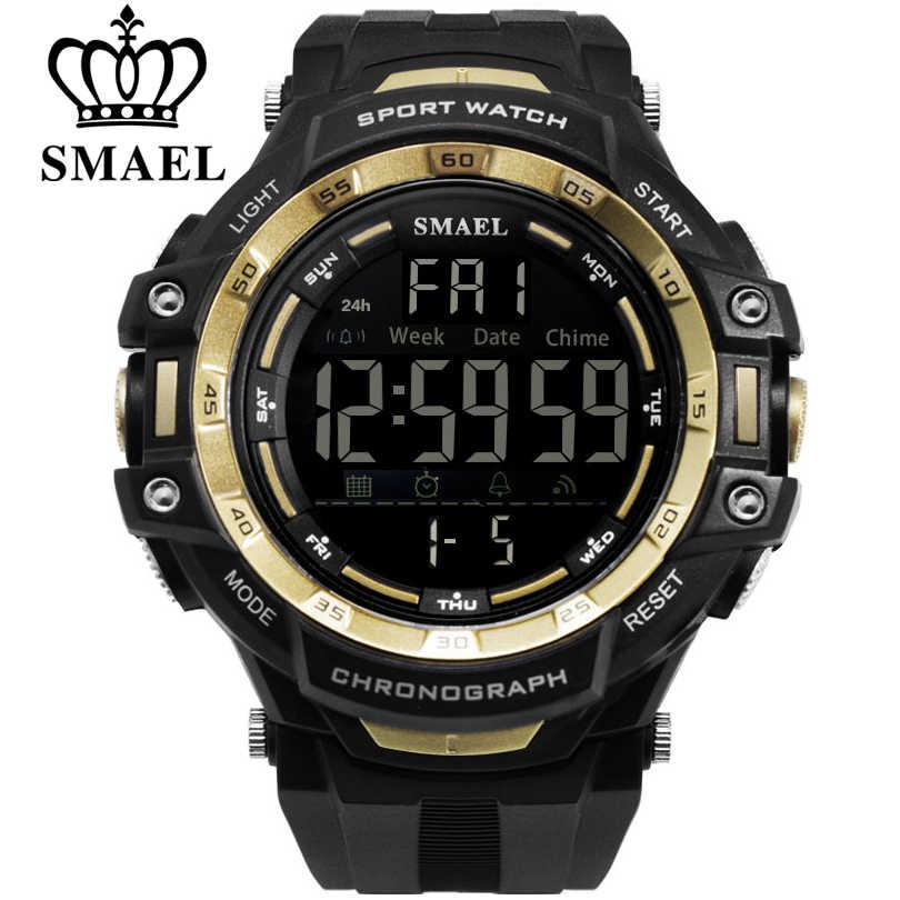 be99d95c9c88 SMAEL marca hombres deportes Relojes hombres militares multifunción  electrónica Watche buceo 50 m LED hombres moda