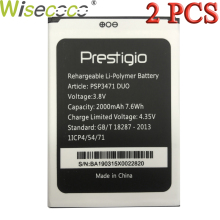Wisecoco 2 PCS/LOT PSP3471 DUO 2000mAh 3.8V Battery For Prestigio Wize Q3 DUO PSP3471 Phone Battery Replace + Tracking Number цена и фото