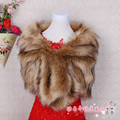 Winter Wedding Cape Imitation Fox Fur Shawl Wedding Jacket Bridal Wraps Bolero Faux Fur Stoles Wedding Coats Jackets 2016 New