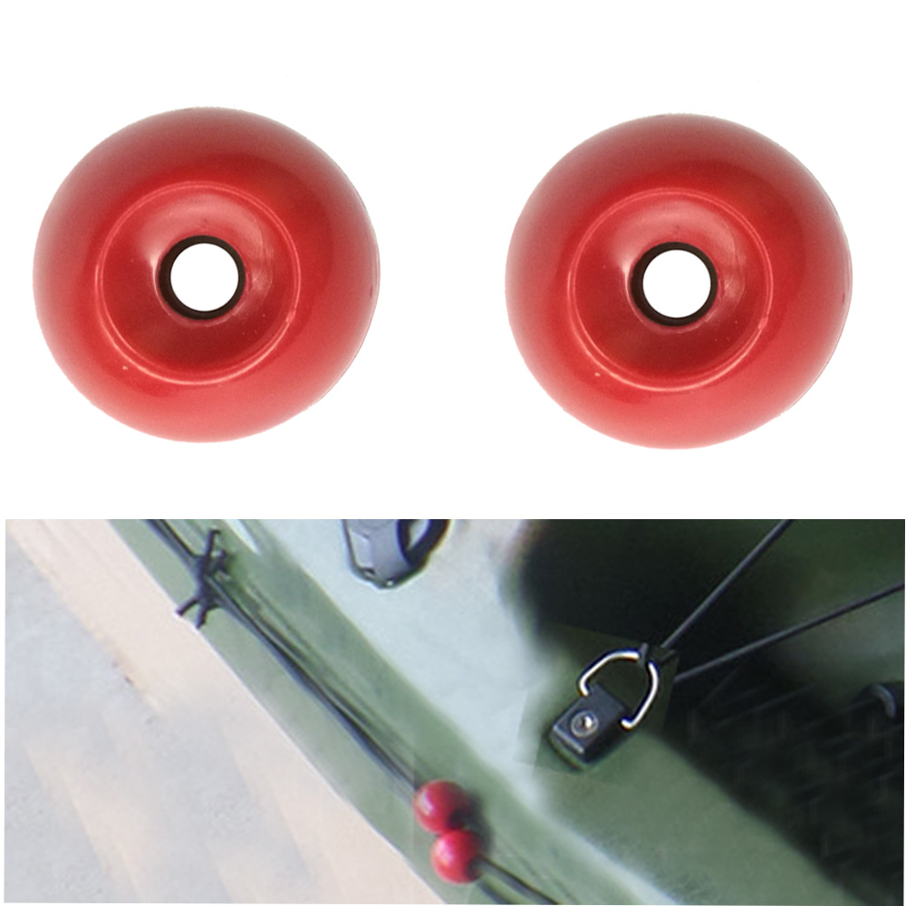 Kayak Rope Cord END Red Balls For Boat Canoe Tail Rudder Control System Accessory