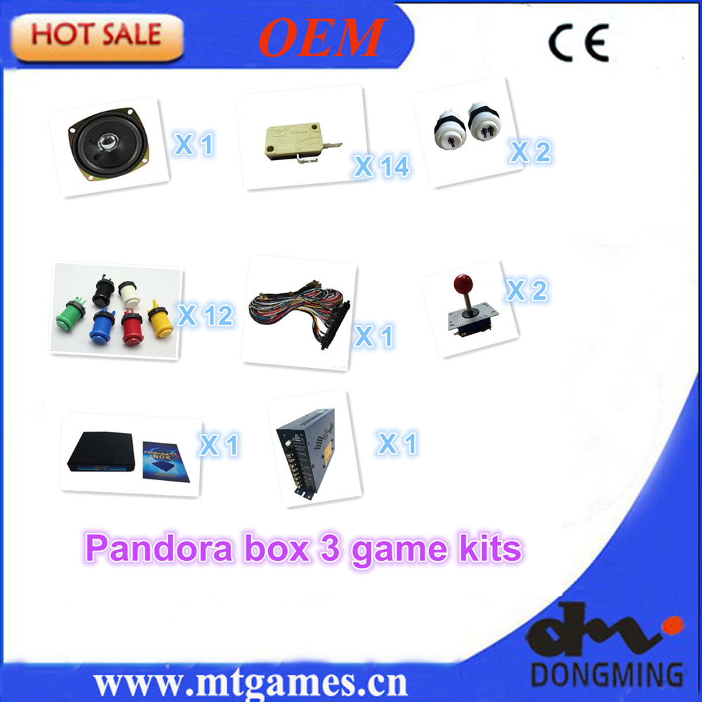 Jamma Arcade game kits with pandora box 3/520in1 game ,Power Supply,Arcade joystick ,Arcade Buttons ,Speaker for arcade game