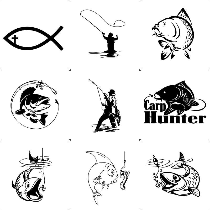 Lovy Vissen Auto Sticker Grappig Mad Fish Decal Raamdecoratie Vinyl Stickers Motorfiets Accessoires