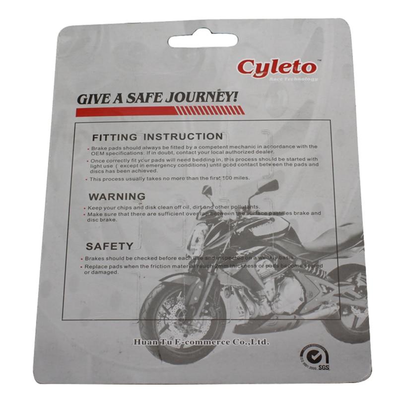 Cyleto Motorrad Vorderbremsbelag für KAWASAKI VN 800 VN800 Klassische//Drifter 96-06 VN 900 VN900 Vulcan Klassische//Benutzerdefinierte 07-16