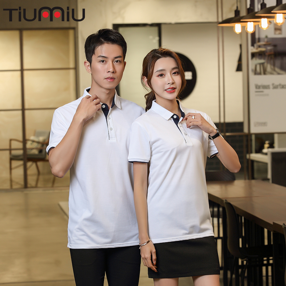 Custom Hotel Waiter Uniforme Cleaning Cool Summer Hotel Uniform Para Limpeza Wholesale Waitress Company Polo Collar Shirt Work