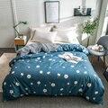 Light Blue Print Student Child Adult Bedding 1Pcs Cotton Full Queen King Size Duvet Cover Quilts Comforter Case 220x240 Size