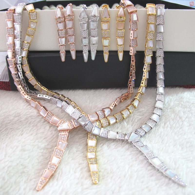 New mother of pearl stone CHOKER necklaces and earrings party jewelry sets for women