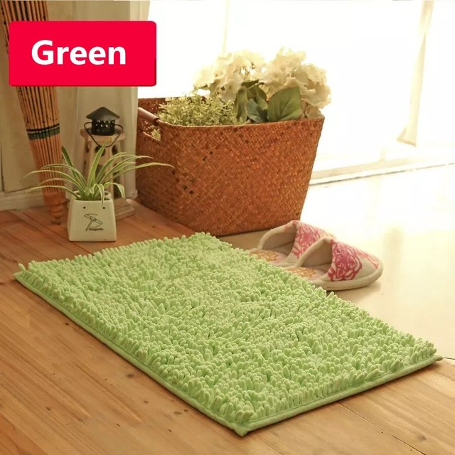 non slip bath mat microfiber chenille bathroom rugs carpet shag shower rugs super soft multi - Bathroom Rugs